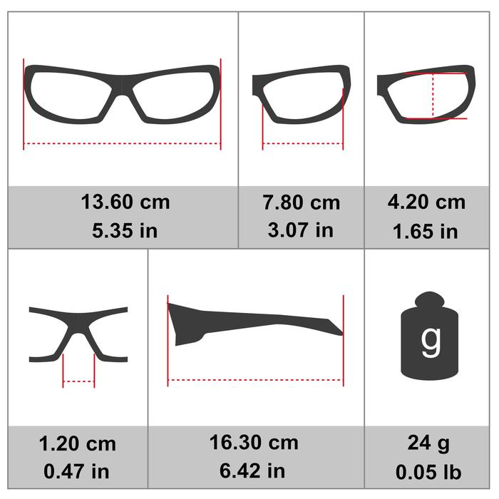 MTB-Sportbrille ST 100 Kat. 3 grau
