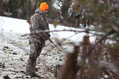 Парка Posikam 100 для полювання, водовідштовхувальна -Коричневий камуфляж