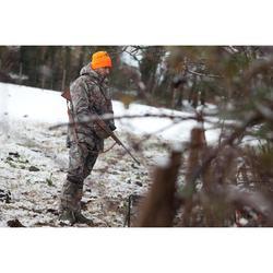 Warme camouflagebroek voor de jacht 100 bruin