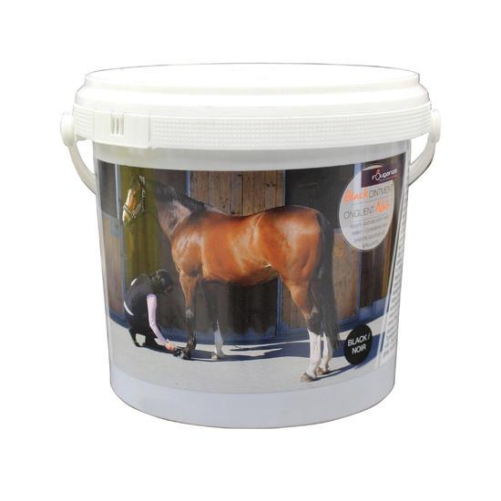 Zwarte hoefzalf voor onderhoud ruitersport paarden en pony's 1l - 36853