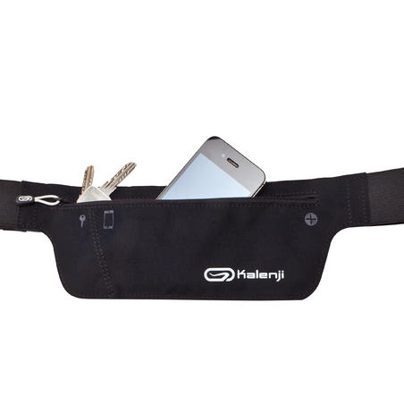 Running belt for a phone and keys