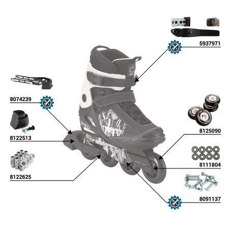 Freeride 3 Softboot Adult Inline Skates - Black/White