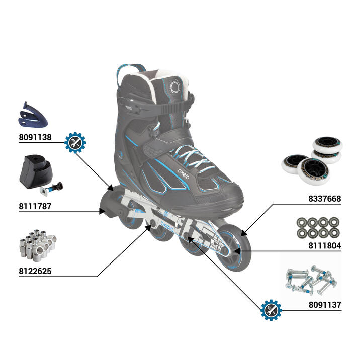 Roller fitness homme FIT 5 noir bleu - 36929