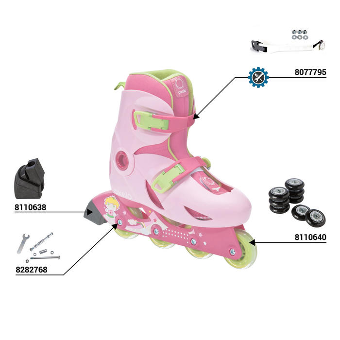 Play 3 Girls' Inline Skates Sizes 8C to 9.5C