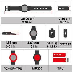 Schokvast horloge W700xc M Swip - 369390