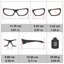 MH T500 Kids' Hiking Sunglasses Ages 8-10 Category 4 - Grey