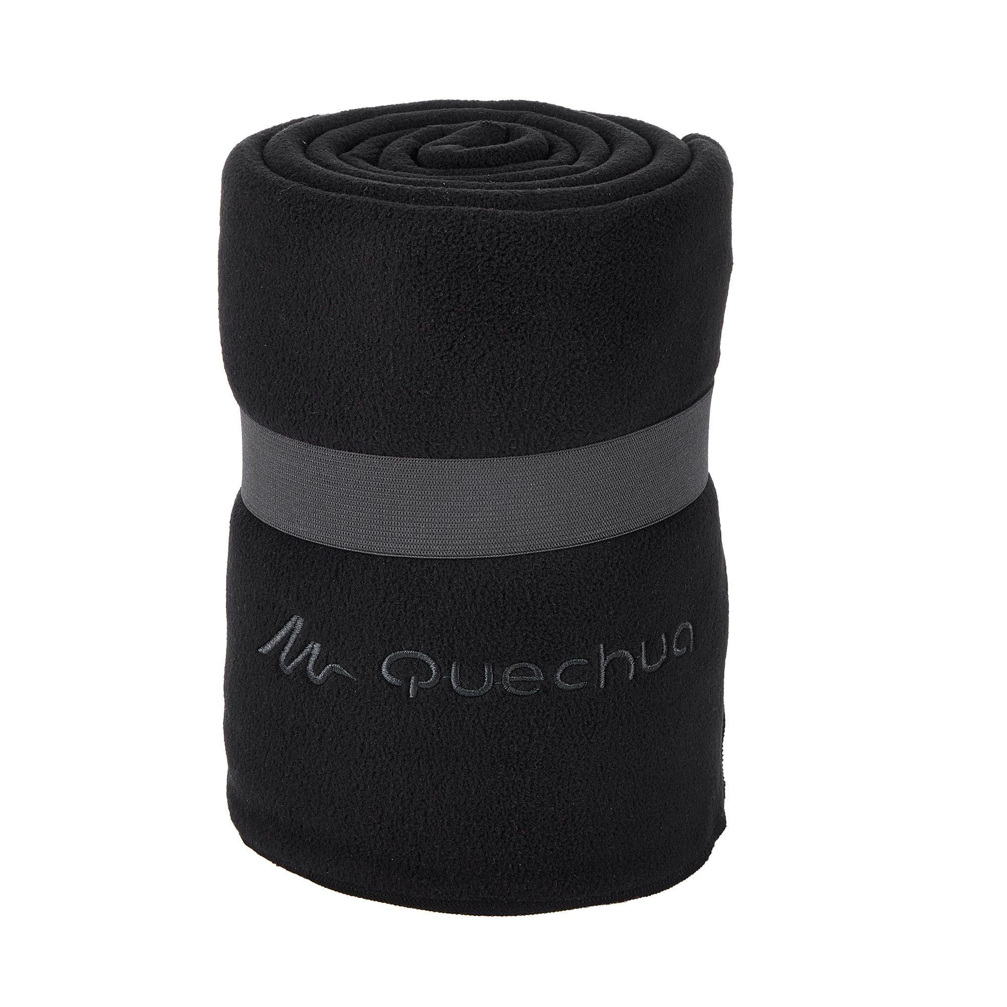 fleece blanket  black  quechua -
