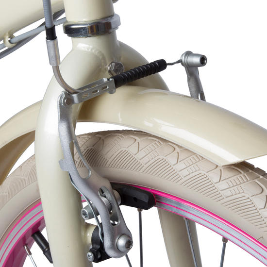 "VELO ENFANT 24"" POPLY 500 CREME/ROSE"