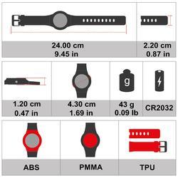 Reloj pulsómetro de running ONRHYTHM 110 blanco