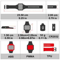 Hartslagmeter met gecodeerde band ONrhythm 410 - 370988