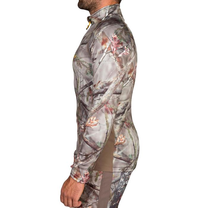T-SHIRT CHASSE ACTIKAM 500 CHAUD CAMOUFLAGE BROWN