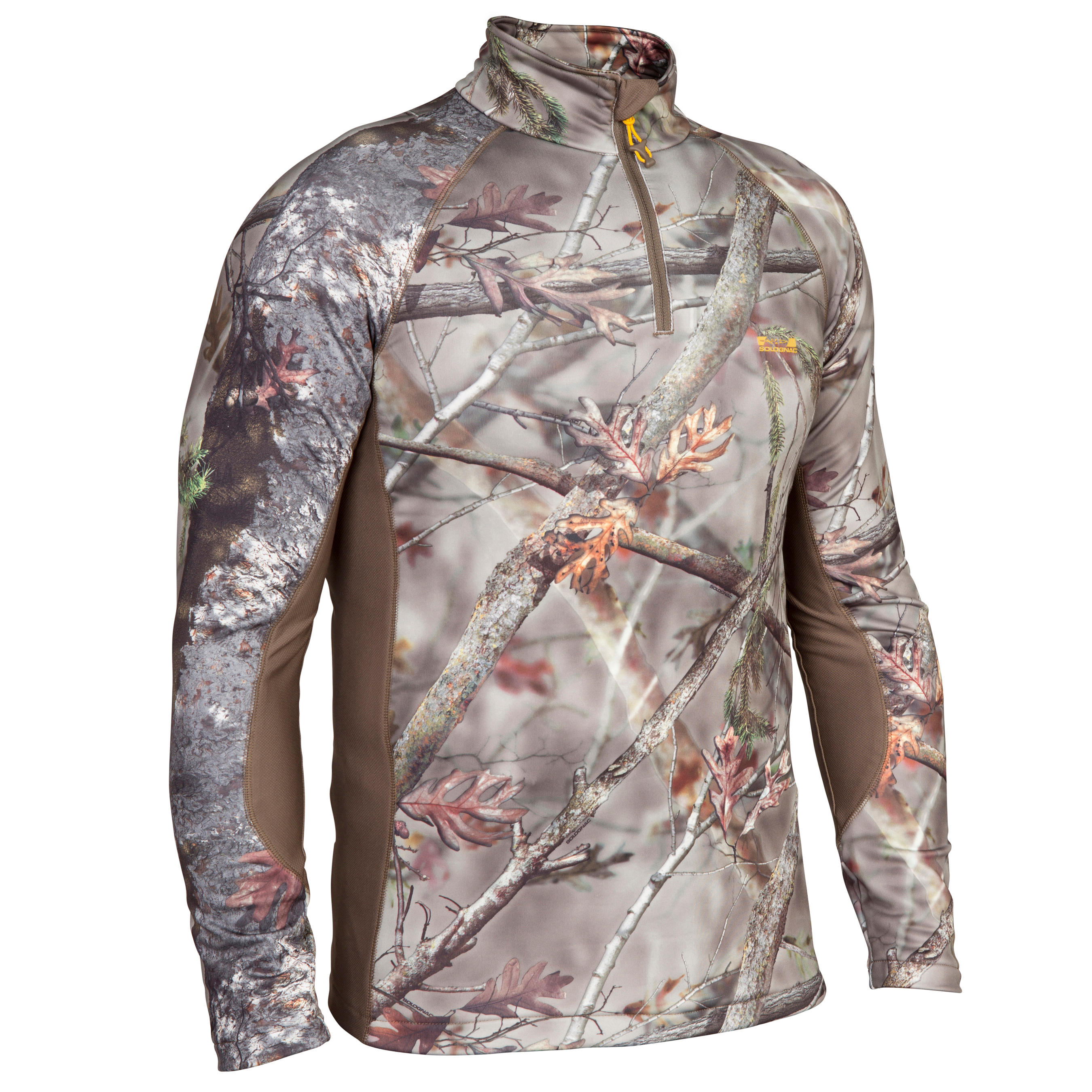 ACTIKAM 500 WARM HUNTING T-SHIRT - CAMO BROWN