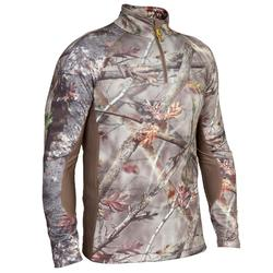 Warm shirt Actikam 500 voor de jacht camouflage bruin