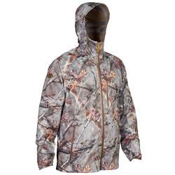 Waterdichte jas Actikam 500 Light voor de jacht, camouflage bruin