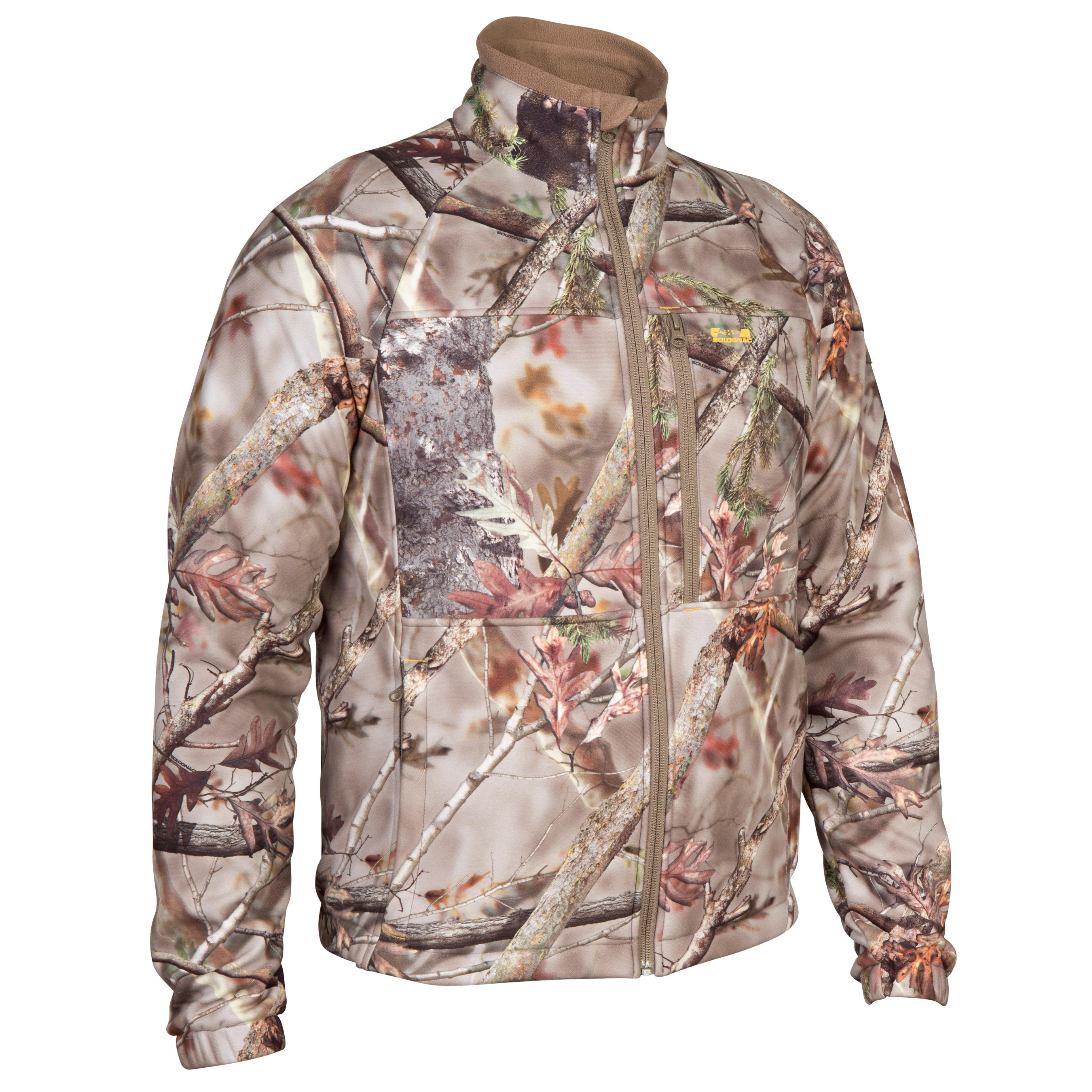 Solognac Fleece jagersjas Actikam 300 camouflage bruin