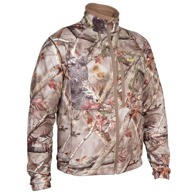 CAMO CLOTHING DRY/WET WEATHER Shooting and Hunting - ACTIKAM 300 FLEECE JACKET CAMO SOLOGNAC - Hunting Types