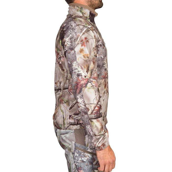 VESTE CHASSE POLAIRE ACTIKAM 300 CAMOUFLAGE BROWN