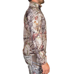VESTE CHASSE POLAIRE ACTIKAM 300 CAMOUFLAGE BRUNE