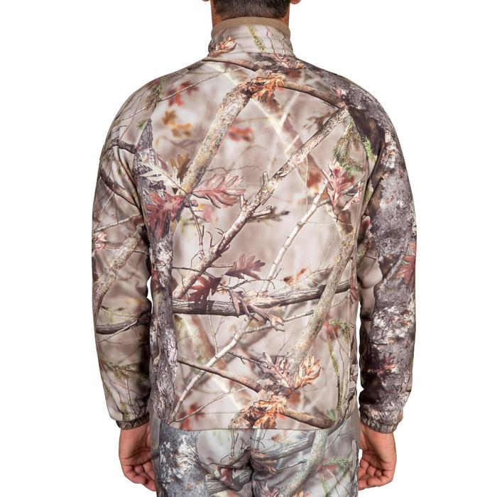 Fleece vest voor de jacht 300 bos camouflage