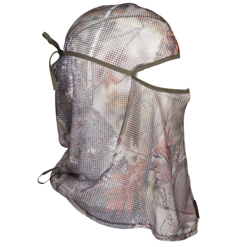 หมวกโม่งคลุมศีรษะผ้าตาข่ายส่องสัตว์รุ่น 100 (ลายพรางป่าโปร่ง)