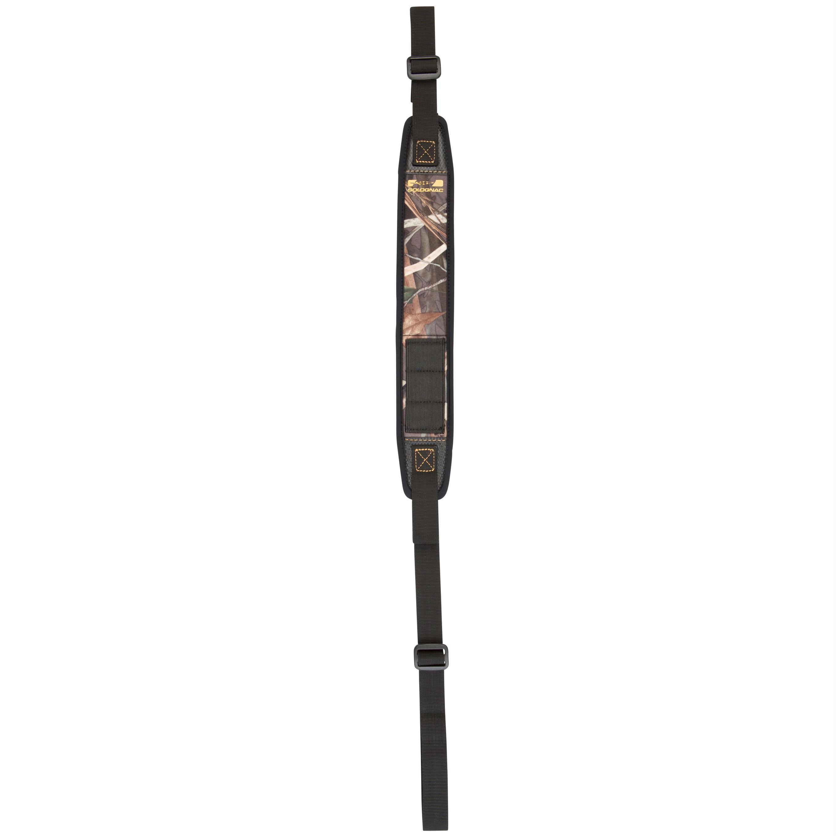 Bretelle chasse fusil 300 néoprène camouflage marais