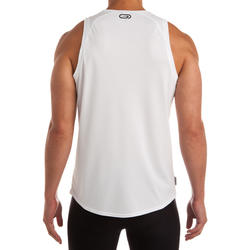 RUN DRY MEN'S RUNNING TANK TOP WHITE