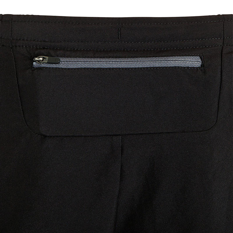 Kiprun men's split running shorts - black/grey