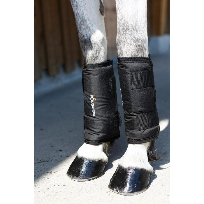4 protectores de transporte equitación caballo TRAVELLER 300 negro