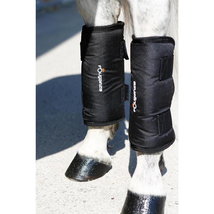 4 guêtres de transport équitation cheval TRAVELLER 300 noir