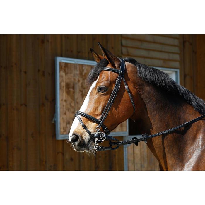 Mors équitation poney et cheval Pelham brisé caoutchouc - 375764