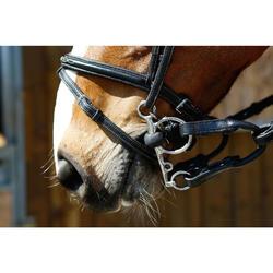 Bocado de equitación articulado de caucho Pelham para poni y caballo