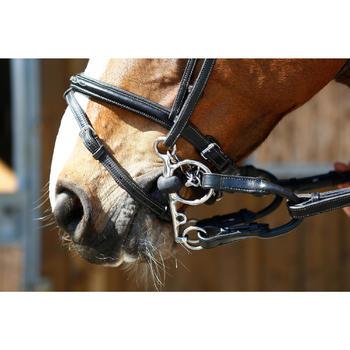 Mors équitation poney et cheval Pelham brisé caoutchouc - 375766