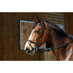 Pelham-Verbindungsriemen für Pony und Pferd braun