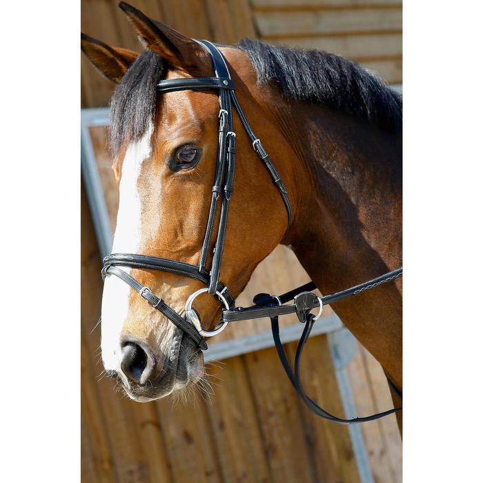Martingale à anneaux équitation cheval SCHOOLING noir - 375781