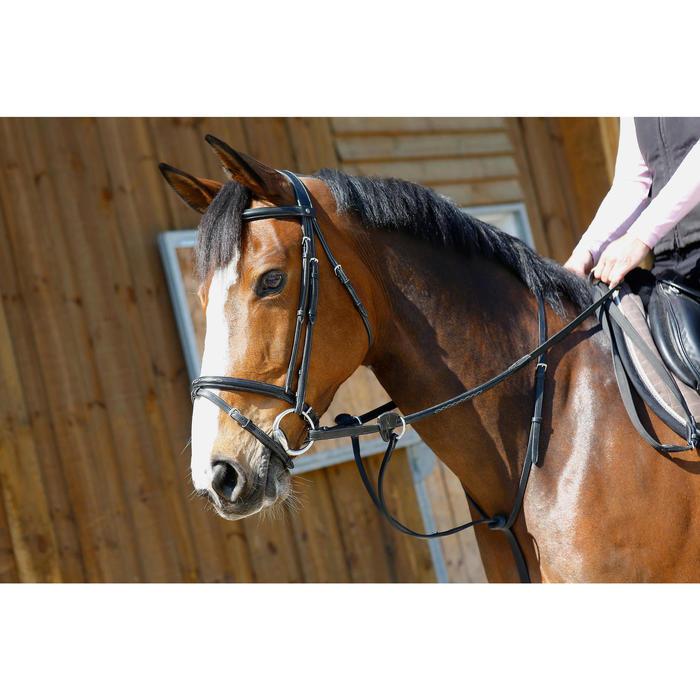 Martingale à anneaux équitation cheval SCHOOLING noir - 375782