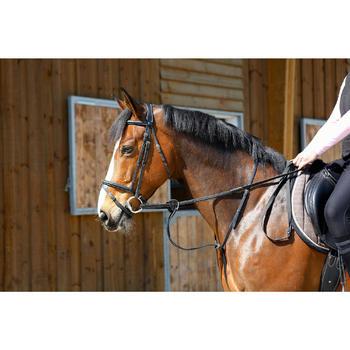 Martingale à anneaux équitation cheval SCHOOLING noir - 375783