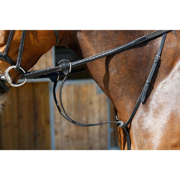 Martingale à anneaux équitation cheval SCHOOLING noir - 375784