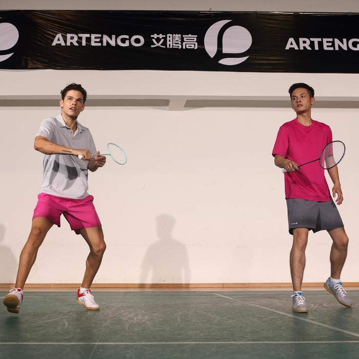 Herenshort Essentiel marineblauw 100 tennis/badminton/tafeltennis/padel/squash - 375909
