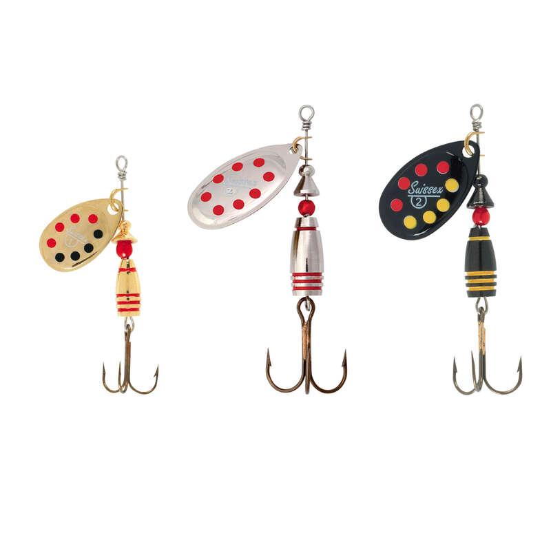 VILLANTÓK PISZTRÁNG, SÜGÉR Horgászsport - SUISSEX villantó szett SUISSEX - Ragadozóhalak horgászata