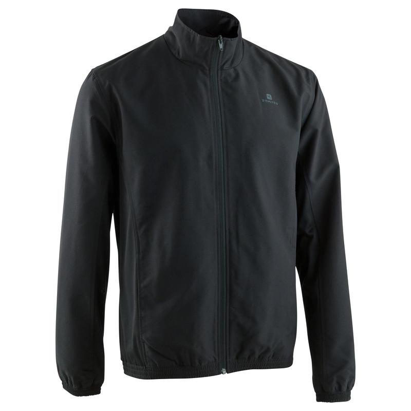 Men's Quick Dry Fitness Tracksuit Jacket - Black
