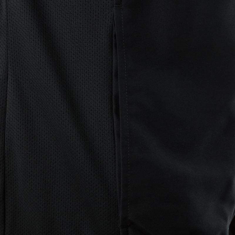 Chaqueta fitness cardio hombre negra FJA100