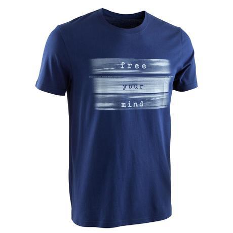 T-shirt Sportee 100% katoen heren rustige gym yoga donkergrijs ... 575ffbf88c8