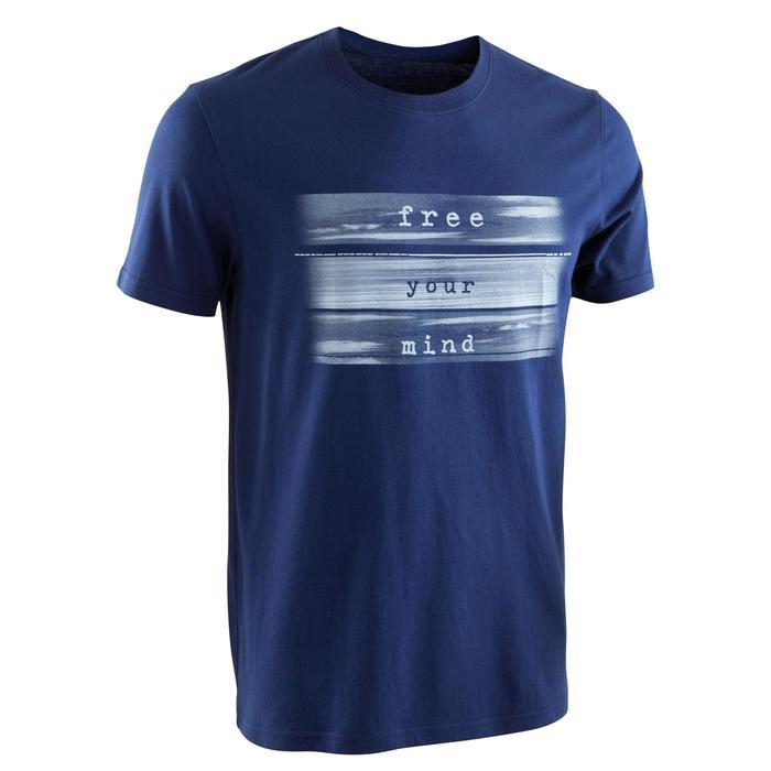 Camiseta Sportee 100% algodón hombre gimnasia suave yoga gris oscuro
