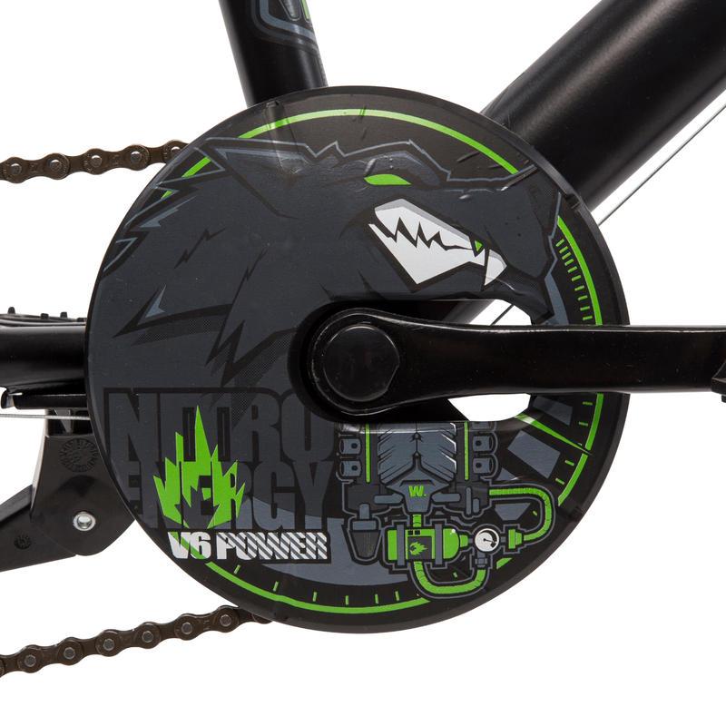 Racing Boy 500 Kids' 20-Inch Bike - Black/Green