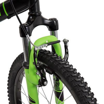 دراجة جبلية للأطفال 20 بوصة RacingBoy 500 - لون أسود/ أخضر.