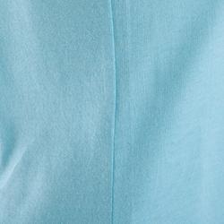 Camiseta estampada de manga corta fitness mujer azul claro