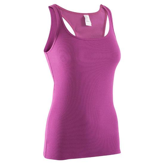 Topje voor gym & pilates dames gemêleerd - 378836