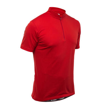 MAILLOT VELO MANCHES COURTES 300 ROUGE