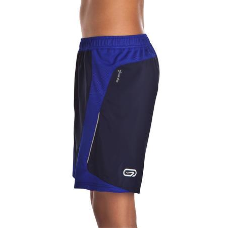 Kiprun Boy Running Shorts Black and Dark Blue
