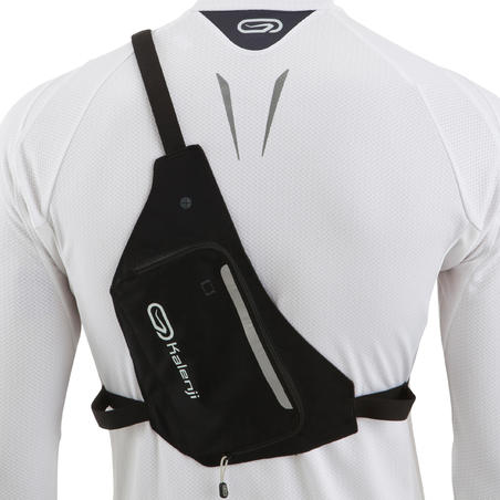 2-POSITION RUNNING BAG - BLACK